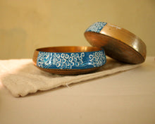 Load image into Gallery viewer, Blue Pottery: Indigo Forest Bowl