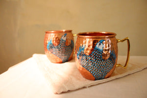 Blue Pottery: Indigo Eagle Mug