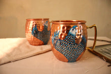 Load image into Gallery viewer, Blue Pottery: Indigo Eagle Mug