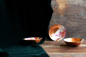 Handpainted wabi sabi mélange copper bowl