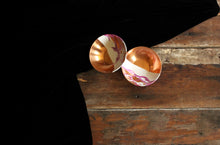 Load image into Gallery viewer, Handpainted wabi sabi mélange copper bowl