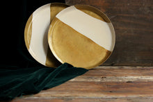 Load image into Gallery viewer, Handpainted wabi sabi brass plate