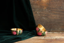 Load image into Gallery viewer, Handpainted parrot and bougainvillea bronze bowl