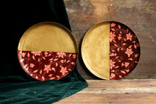 Load image into Gallery viewer, Handpainted cherry forest brass plate