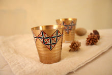 Load image into Gallery viewer, Nostalgic Saffron Floret Tiles Shot Glass (set of 4)