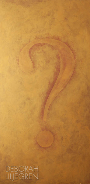 The Burning Question by Deborah Liljegren. Contemporary art for home, business, and hospitality.