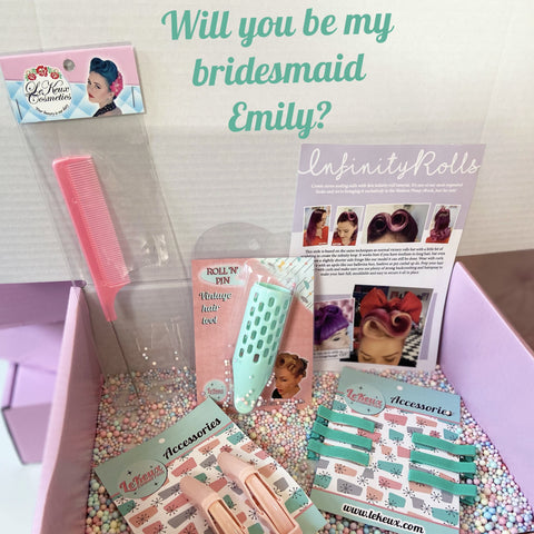 Personalised Bridesmaid Proposal - Pin Up Hair Tools Kit