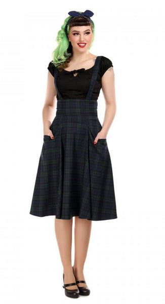Collectif Alexa Blackwatch Swing Skirt