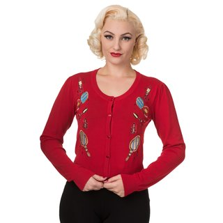 Dancing Days by Banned, Red, Embroidery detailed Cardigan
