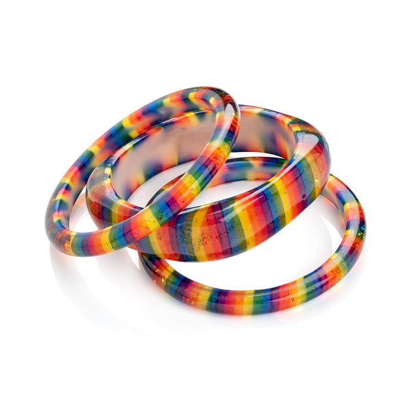 Rainbow Large Square Bangle