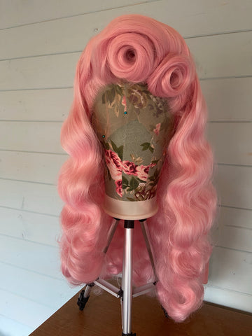 'Diablo' Victory Rolls and Waves Synthetic Lace Front Wig - Choose Your Colour + Length!