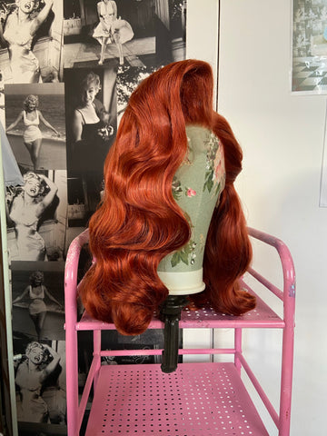 'Rita' Hollywood Wave Vintage Styled Lace Front Synthetic Wig - Choose Your Colour!