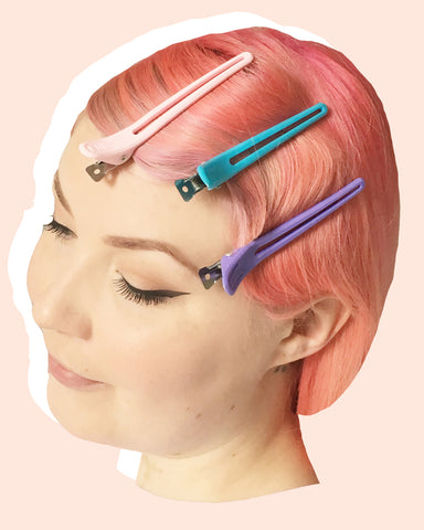Long bill sectioning / wave clips for vintage hair styling