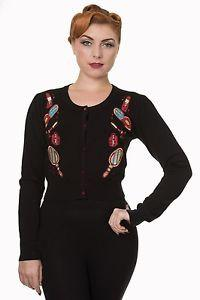 Dancing Days by Banned, Black, Embroidery detailed Cardigan