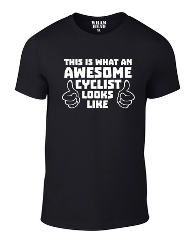 Awesome Cyclist Cotton T Shirt - WHAMHEAD CLOTHING - T Shirts & Hoodies