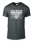 Awesome Cyclist Cotton Cycling T Shirt - THREADS UP CLOTHING - T Shirts & Hoodies