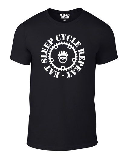 Eat Sleep Cycle Repeat Cotton Cycling T Shirt - THREADS UP CLOTHING - T Shirts & Hoodies