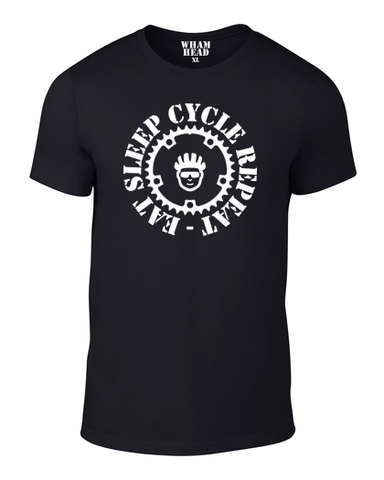 Eat Sleep Cycle Repeat Cotton T Shirt - WHAMHEAD CLOTHING - T Shirts & Hoodies