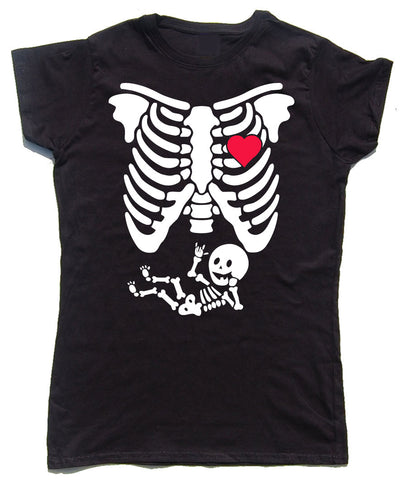 Baby X-Ray Fitted Cotton Funny T Shirt - WHAMHEAD CLOTHING - T Shirts & Hoodies