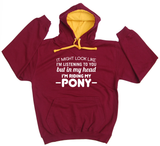 It Might Look Like (Pony) Horse Riders Varsity Hoodie - THREADS UP CLOTHING - T Shirts & Hoodies