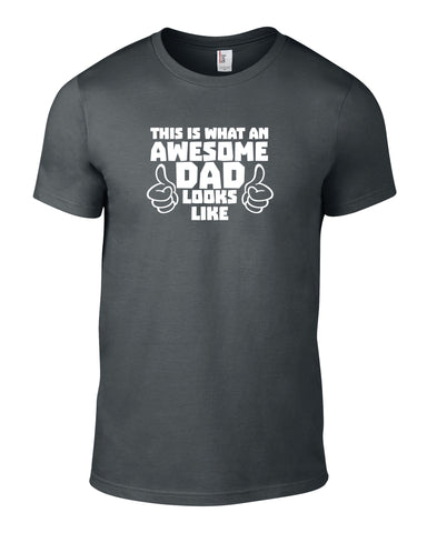 Awesome Dad Cotton Funny T Shirt - THREADS UP CLOTHING - T Shirts & Hoodies