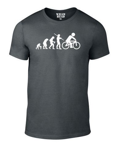 Cyclist Evolution Cotton T Shirt - WHAMHEAD CLOTHING - T Shirts & Hoodies