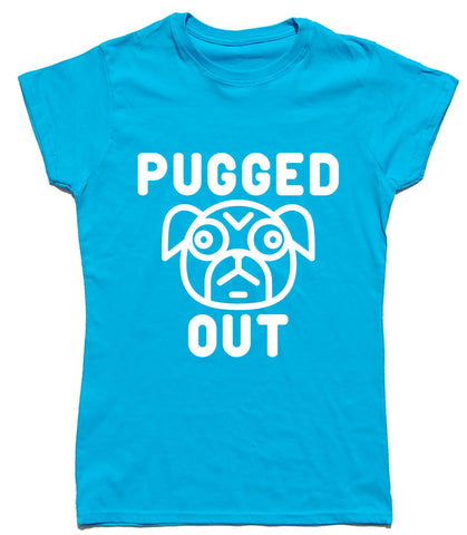 Pugged Out Fitted Cotton Dog T Shirt - WHAMHEAD CLOTHING - T Shirts & Hoodies