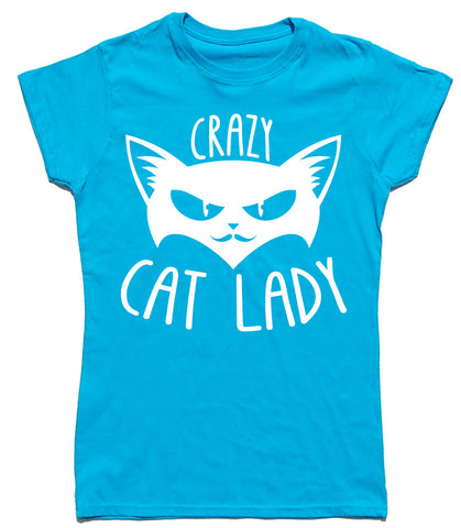 Crazy Cat Lady Fitted Cotton T Shirt - THREADS UP CLOTHING - T Shirts & Hoodies