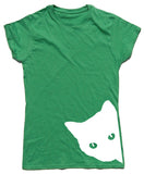 Nosey Cat Fitted Cotton T Shirt - THREADS UP CLOTHING - T Shirts & Hoodies