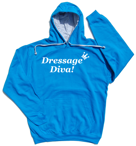 Dressage Diva Horse Riders Varsity Hoodie - THREADS UP CLOTHING - T Shirts & Hoodies