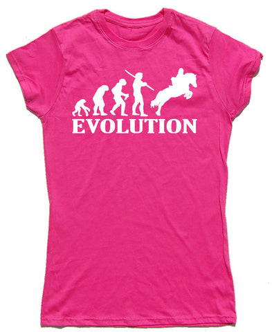 Evolution Fitted Cotton Horse Riders T Shirt - THREADS UP CLOTHING - T Shirts & Hoodies