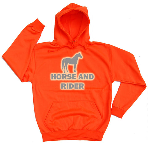 Horse And Rider Reflective Horse Riders Hoodie - THREADS UP CLOTHING - T Shirts & Hoodies