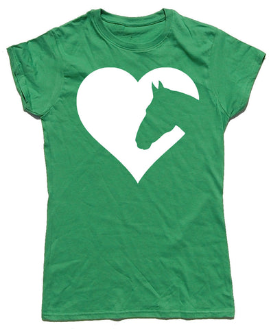 Heart Horses Fitted Cotton Horse Riders T Shirt - THREADS UP CLOTHING - T Shirts & Hoodies