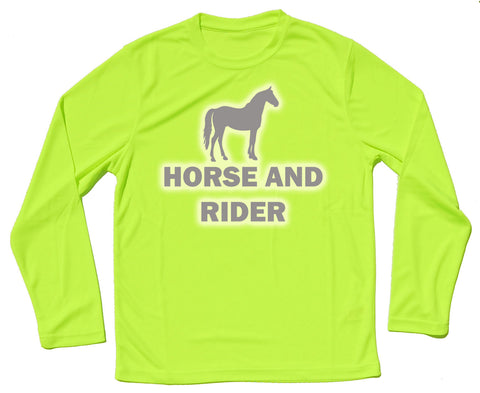 Horse And Rider Reflective Quick Dry Horse Riders Long Sleeve T Shirt - THREADS UP CLOTHING - T Shirts & Hoodies