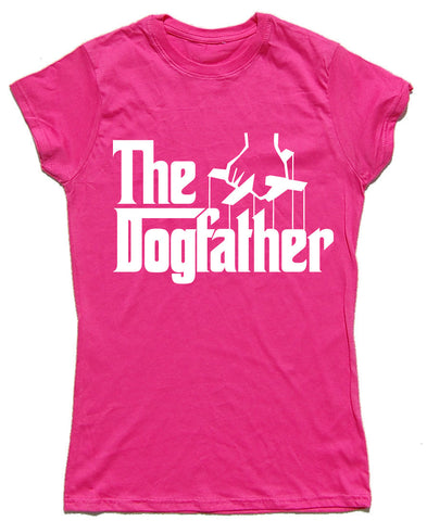 The Dogfather Fitted Cotton Dog T Shirt - WHAMHEAD CLOTHING - T Shirts & Hoodies