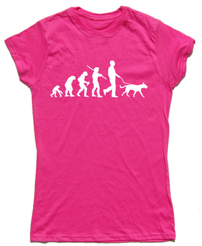 Dog Evolution Fitted Cotton Dog T Shirt - THREADS UP CLOTHING - T Shirts & Hoodies