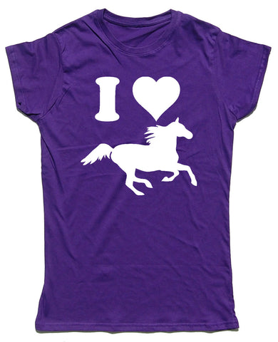 I Heart Horses Fitted Cotton Horse Riders T Shirt - WHAMHEAD CLOTHING - T Shirts & Hoodies