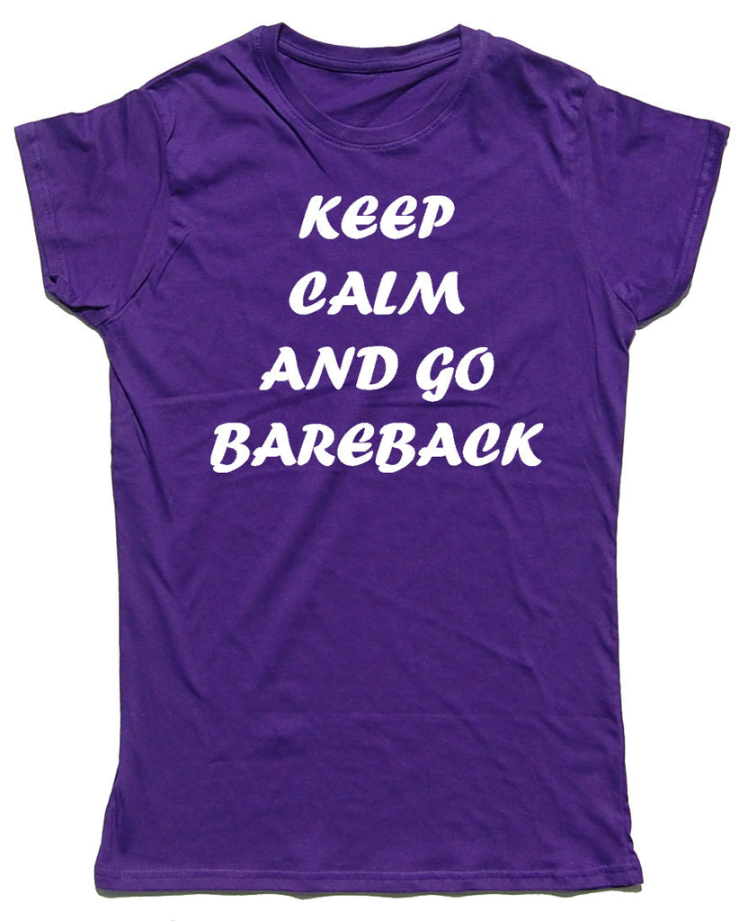 Keep Calm And Go Bareback Fitted Cotton Horse Riders T Shirt - THREADS UP CLOTHING - T Shirts & Hoodies
