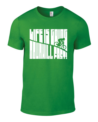 Life Is Going Downhill Fast Cotton Cycling T Shirt - WHAMHEAD CLOTHING - T Shirts & Hoodies