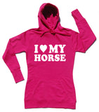 I Heart My Horse - Horse Riders Longline Hoodie - THREADS UP CLOTHING - T Shirts & Hoodies