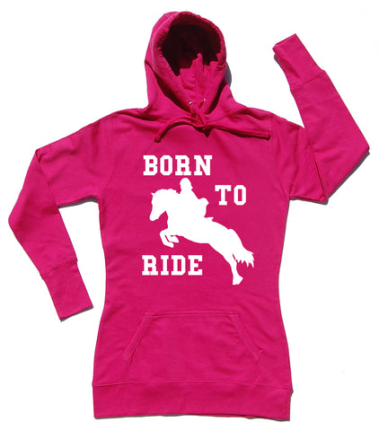 Born To Ride Horse Riders Longline Hoodie