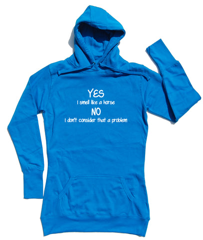 Yes I Smell Horse Riders Longline Hoodie - THREADS UP CLOTHING - T Shirts & Hoodies