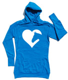 Heart Horse - Horse Riders Longline Hoodie - THREADS UP CLOTHING - T Shirts & Hoodies