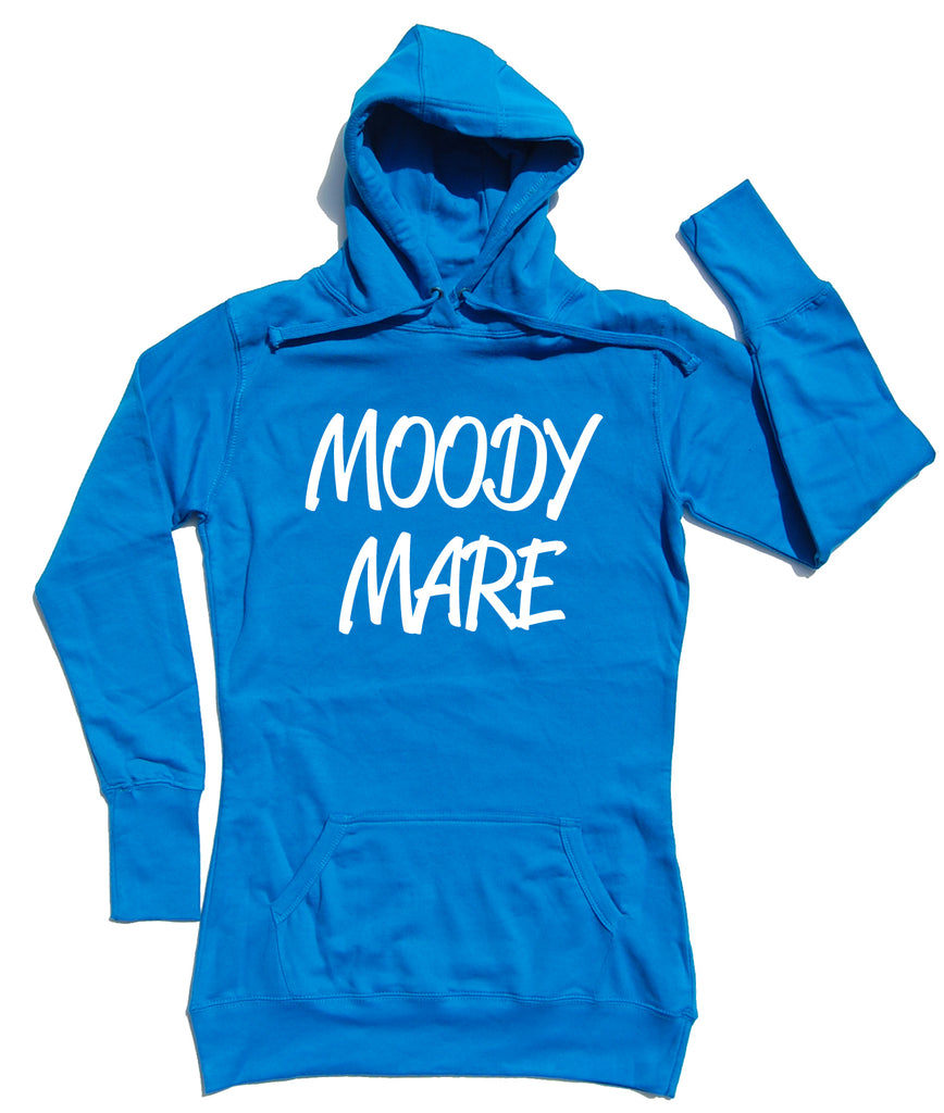 Moody Mare Horse Riders Longline Hoodie - THREADS UP CLOTHING - T Shirts & Hoodies