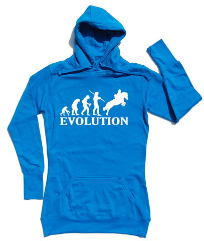 Evolution Horse Riders Longline Hoodie - WHAMHEAD CLOTHING - T Shirts & Hoodies