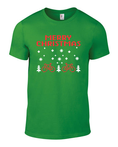 Merry Christmas Retro Cotton Cycling Xmas Christmas Mens T Shirt - WHAMHEAD CLOTHING - T Shirts & Hoodies