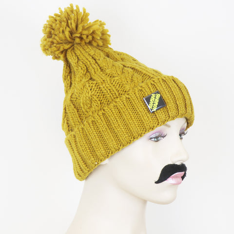 The Beanie Man 'Cosy' Knitted Bobble Beanie Hat