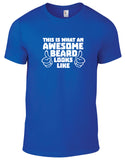 Awesome Beard Cotton Funny T Shirt - THREADS UP CLOTHING - T Shirts & Hoodies