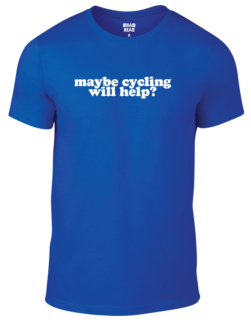 Maybe Cycling Will Help? Cotton Cycling T Shirt - THREADS UP CLOTHING - T Shirts & Hoodies