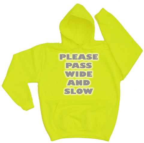 Please Pass Wide And Slow Reflective Horse Riders Hoodie - THREADS UP CLOTHING - T Shirts & Hoodies